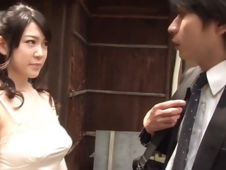 Crazy Japanese model Aki Nagase in Incredible big tits, gangbang JAV video