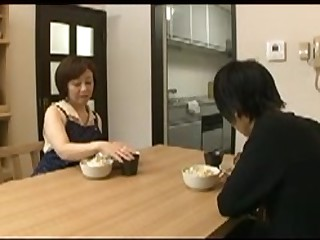 Japanese Mom blackmailed by Step Son 6