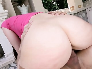 A big ass girl goes crazy over a really large dick in this hot video