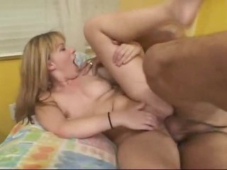 Her ass is nailed by a big cock