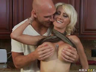 Busty Golden-haired MILF Torrey Pines Titty Fuck For Cum On Her Big Tits
