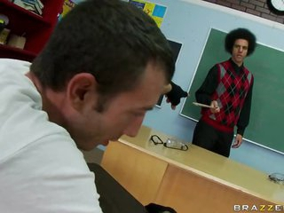 Big Tittied Teacher Fucking The School Worst Students In FFM Threesome