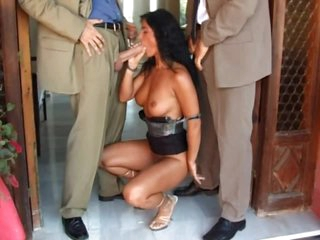 Sexually excited Milf Has A Threesome With Two Sexually excited Guys Outdoors