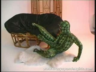 Sexy blonde molds like a snake, giggles like a snake