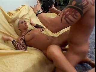 Her pussy and a-hole are happy to have his cock