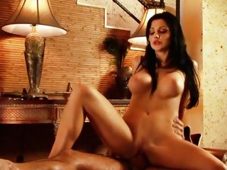 Alluring Aletta Ocean bounces her fur pie on a huge rod