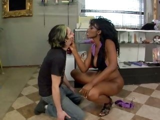 Erotic Nyomi Banxxx gets this stud to take up with the tongue her ass