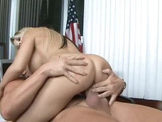 Total office bimbo acquires plowed hard