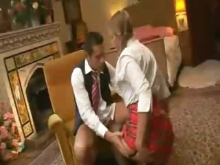 Pigtailed schoolgirl pounded in the a-hole