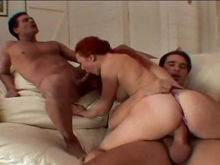 Redhead Audrey Hollander in a DP