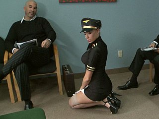 Charming airline stewardess
