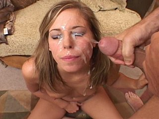 Alexa Benson receives her face drenched in cum