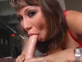 Ava Devine gives a soaked deepthroat BJ