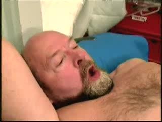 Juvenile lady sucks old guy cock