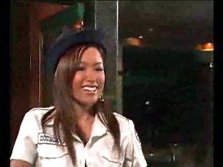 Asian lady cop wishes the perp to fuck her